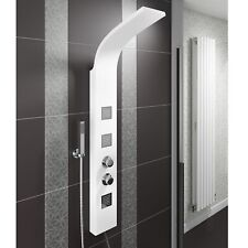 Thermostatic Shower Panel Column Tower Drencher Head Handset 3 Body Jets White