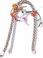 1047 Medium Rope Charm Perch Bird Toy parrot cage toys cages cockatiel conure