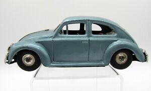 Vintage 1960's Banda Japan Tin Toy - Volkswagen Beetle Blue Friction Car VW Bug