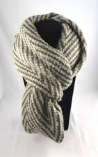 Infinity Scarf Brown Cream Stripes Cowl Single Or Double Loop