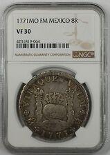 1771-MO FM Mexico 8 Reales Silver Coin NGC VF-30