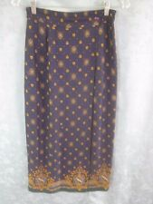 Vintage Pendleton Long Wrap Skirt Size 6 High Waist Geometric Scarf Print