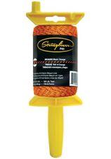 Stringliner 25491 Braided Mason Line and Pro Reel, 500', Black/Orange