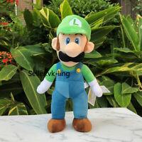 "New Super Mario Bros. U DX Plush Luigi 15"" Stuffed Toy Game Cartoon Soft Doll"