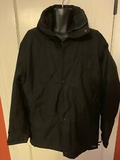 Alpine Design Mens Vintage Black Nylon Jacket Coat Size M Full Zip Gore Tex