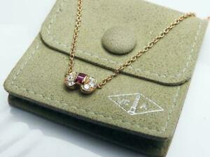 Van Cleef & Arpels 18k Yellow Gold /Ruby  Celestine necklace / 40cm