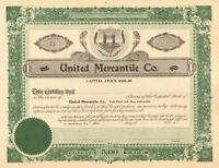 United Mercantile Co. > 19__ Kentucky stock certificate share
