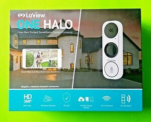 LaView ONE Halo HD 3MP 2K Wi-Fi Doorbell Camera, Two-Way Audio, 180° Wide Angle