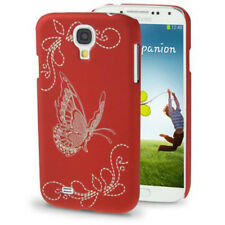 HardCase Butterfly für Samsung i9500 Galaxy S4 in rot Etui Hülle Case Cover