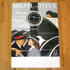 SOLVIL ET TITUS poster manifesto affiche pubblicitario Orologio Clock Casablanca