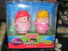 Fisher Price Little People Disney Princess Ariel Mermaid Aurora Sleeping Beauty