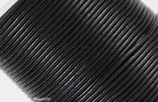 Lederband Lederbänder Lederriemen Rundlederriemen echt Leder schwarz 3mm 10m NEU