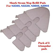 5 Trianglar Steam Mop Replacement Pocket Pads For Shark S3501 S3550 S3601 S3901
