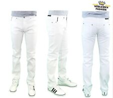 MEN JEANS SLIM STRETCH FIT SLIM FIT TROUSERS TWILL RINSE DENIM CASUAL PANTS