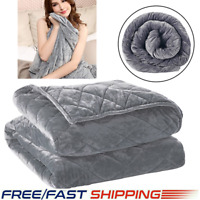Weighted Blanket 60x80 Adult Queen Size Anxiety 100% Breathable Super Soft 2020