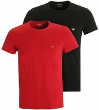 Cotton Patternless ARMANI Regular T-Shirts for Men