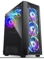 Black tempered Modern Desktop Pc gaming Rgb Case