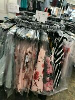 100 PC Lot of Womens Clothing, Tops, Dresses, And More Wholesale Resale Bulk