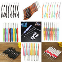 LED Light Soft Handle Knitting Needles Set Aluminum Crochet Hook Weave Yarn