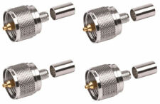 N Male Connector for RG-8X LMR-240 4 Pack LMR-240UF