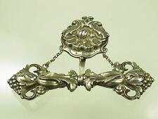 Antiker Biedermeier Nadelbehälter Silber Handarbeit um 1800 zum Anhängen