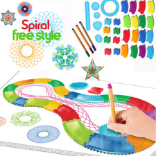 30Ps Spirograph Drawing set Designs Patterns Art Paint Spiral Educational KidToy