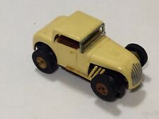 Vintage Aurora Thunderjet T-Jet Hot Rod Coupe HO Slot car Cream Runs Nice LQQK