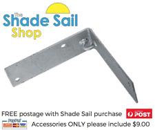 250 x 250 mm Corner Bracket  Internal Galvanised DIY Shade sail accessories