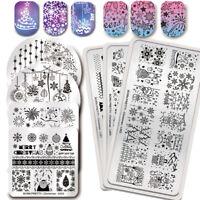 BORN PRETTY Christmas Series Nail Stamping Plates Image Templates Nail Art Tool