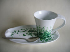 Ringtons Wade Cup/ Beaker Snack Saucer & Spoon Trailing Ivy