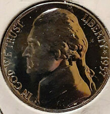 1957 Proof Jeferson Nickle Mirror Proof Finsh With Full Steps