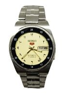 RELOJ  SEIKO 5 AUTOMATIC JAPAN MEN'S DAY/DATE (coleccion ) numeros arabes