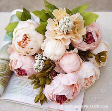 New 1 Bouquet Artificial Peony Flowers Home Decor Wedding Christmas Party Decor