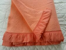 Vintage soft warm vibrant peach single blanket C5 vw camping