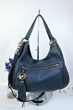 MICHAEL KORS Convertible Crossbody Shoulder Slouch Hobo Bag Large Blue Leather