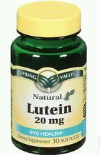 2x Spring Valley Lutein Eye Health 20 mg 30 Softgels Each