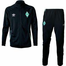 Umbro Herren SV Werder Bremen Trainingsanzug 2020 2021 Knit Suit schwarz grün