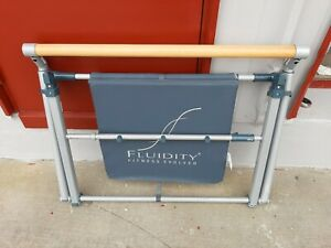 FLUIDITY Fitness Evolved Ballet Barre Exercise Bar for Dance, Yoga Mat and More