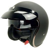 DOT Motorcycle Open Half Face Helmet Motobike 3/4 Scooter Helmets