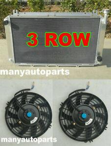 Radiator +Fans For Nissan GQ PATROL Y60 4.2L Petrol TB42S TB42E FORD Maverick MT