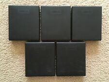 One Lot of (5) Laserline Black Plastic Cd Cases (6) Cd Capacity