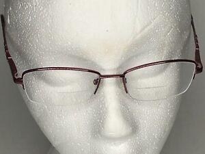 Bulova womens RX eyeglasses Missoula rose rhinestones 51 17 135  titanium frames