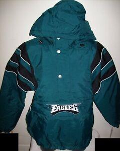 PHILADELPHIA EAGLES Starter Hooded Half Zip Pullover Jacket M L XL 2X GREEN