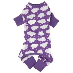 CuddlePup Dog Pajamas - Fluffy Clouds - Purple  XS-S-M-L