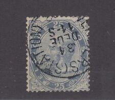 Belgium 1883 25c Blue SG65 Fine Used JK1224