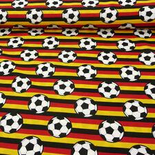 tela de algodón ALEMANIA BANDERA rayas con Fútbol 1,5m Ancho