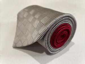 Tommy Hilfiger Men's Grey Geometric Silk Neck Tie $98