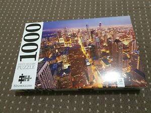 HINKLER MINDBOGGLERS 1000 PIECE PUZZLE CHICAGO AT TWILIGHT EXC COND