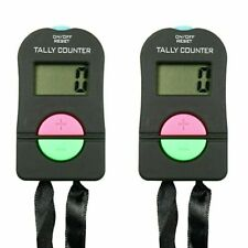 2X Digital Tally Counters Counts Up or Down 4 digit LCD display