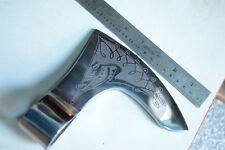 Axe head / Medieval/ SCA/ Larp/BEARDED VIKING ETCHED AXE HEAD